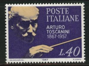 Italy Scott 948 1967 MNH** conductor Toscanini stamp
