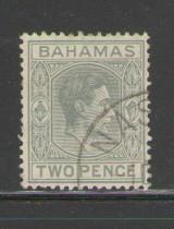 Bahamas Sc 103 1938 2 d gray G VI stamp used