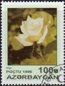Azerbaijan 599 - Cto - 100m White Rose, Virgo (1996) (cv $0.30) (2)