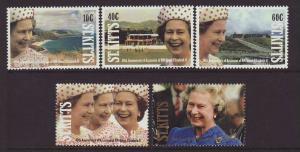 1992 St Kitts Anniv Of Accession Set U/M