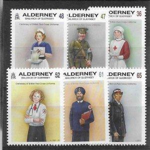 2019   ALDERNEY  -   BRITISH RED CROSS UNIFORMS  -  UMM