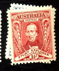 AUSTRALIA #104-5 MINT F-VF OG NH Cat $13