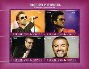 Celebrity Pop Star George Michael Sheet Perforated Mint (NH)