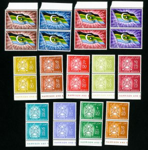 South Arabia Stamps # 3-16 XF OG NH Pairs Catalog Value $60.00