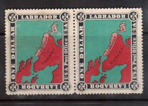 Newfoundland $1 Labrador Map Mint Pair