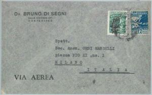 81721 - URUGUAY -  POSTAL HISTORY -  AIRMAIL  COVER  to ITALY  1947