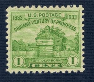 728 Century Of Progress US Postage Single Mint/nh FREE SHIPPING