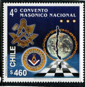 Chile 2000 4th. NATIONAL MASONIC CONVENTION set Perforated Mint (NH)