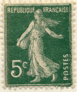 FRANCE - 1907 - Yv.137 5c Semeuse TYPE 2A (des carnets) Impression Floue - Neuf*