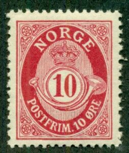 NORWAY #80, Mint Never Hinged, Scott $19.85