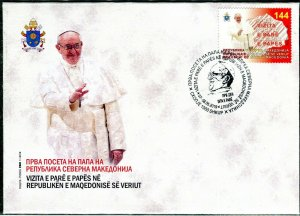 335 - MACEDONIA 2019 - First Pope Visit to the Macedonia - FDC
