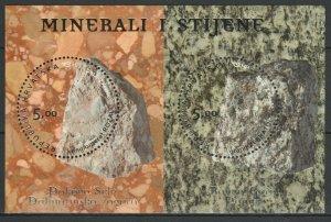 Croatia 2012 Minerals and Rocks MNH block