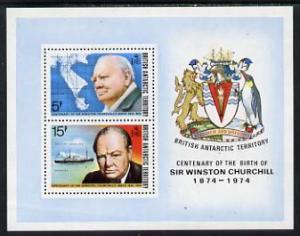 British Antarctic Territory 1974 Churchill Birth Centenar...