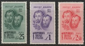 Stamp Italy Socialist SC 32-4 1944 WWII Fascist Bandiera Brothers Execution MNH