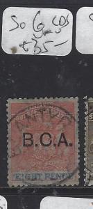BRITISH CENTRAL AFRICA  (P2909B)  ARMS    8D  SG 6  SON CDS   VFU