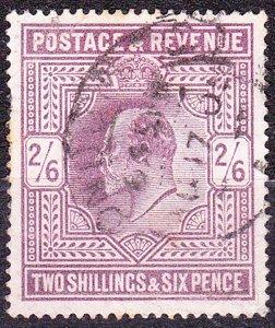 GREAT BRITAIN 1902 KEDVII 2/6 Shillings Dull Purple SG262 Used CV£150