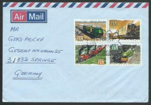 AUSTRALIA 1993 cover to Germany - nice franking - Sydney Pictorial pmk.....12809