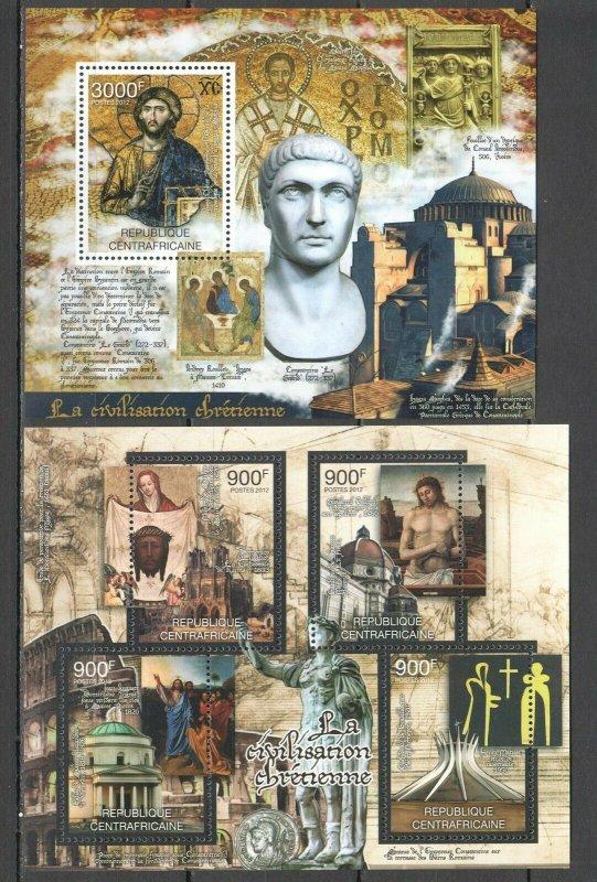 CA818 2012 Central Africa Kunst Geschichte Civilizations Christliches Bl + KB