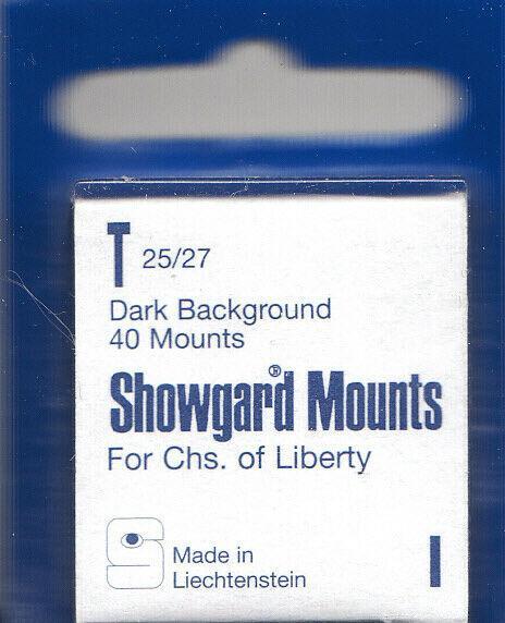 SHOWGARD BLACK MOUNTS T 25/27 (40) RETAIL PRICE $3.95
