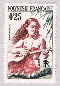 French Polynesia 183 MNH Girl Ukulele  (BP38312)