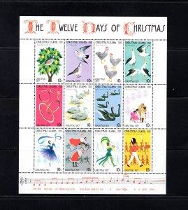 Christmas Island 86m, VF,MNH,Twelve Days of Christmas, CV $2.75 ....1370107