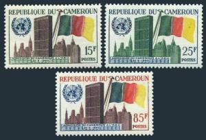 Cameroun 340-342,MNH.Michel 329-331. Admission to UN in 1960.UN Headquarters.