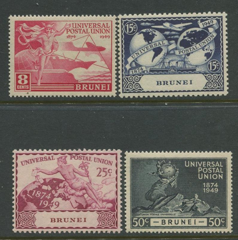 BRUNEI - Scott 79-82 - UPU Issue - 1949 - MVLH - Set of 4 Stamp