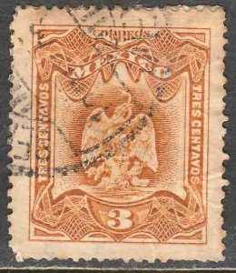 MEXICO 296, 3¢ EAGLE COAT OF ARMS. USED. VF. (188)
