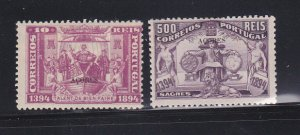 Azores 66, 76 MH Overprint