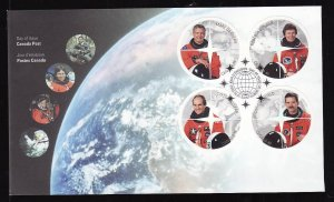 Canada-Sc#1999a-d-stamps on FDC-Space-Astronauts-2003-