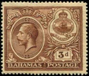 Bahamas SC# 68 SG# 109 George V 3d MH