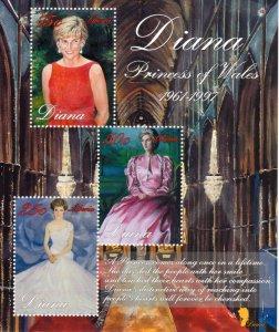 Liberia MNH S/S Diana Princess Of Wales 1998