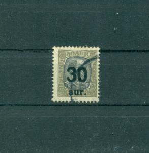Iceland - Sc# 137. 1925 30a on 50a. Used. $40.00.