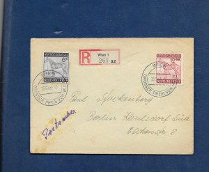 GERMANY 1943 VIENNA GRAND PRIX COVER -Special cancel