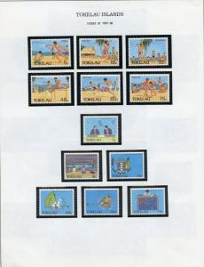 TOKELAU SELECTION OF MINT NEVER HINGED ON ALBUM PAGES AS SHOWN