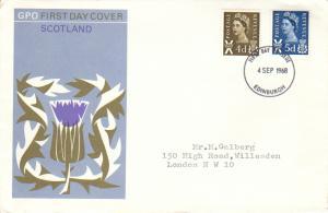 Great Britain Regionals Scott Scotland 9, 11 Typewritten Address.