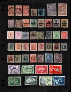 Belgium  42  different mint hinged and used