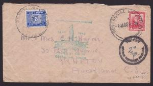 NEW ZEALAND 1940 Centennial Exhibition POSTAGE DUE cover....................1876