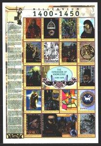 Guinea. 2000. Small sheet 2747-63. Millennium, history, horses. MNH.