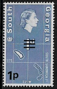 South Georgia #18 MNH Stamp - Map Overprint