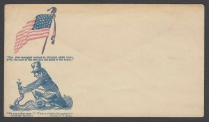 Civil War Patriotic unused cover - Flag and Strangling the Secession Snake