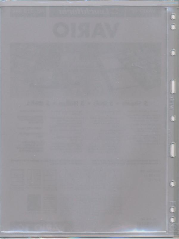 25 LIGHTHOUSE VARIO 1C CLEAR STOCK SHEETS 5 PACKAGES OF 5