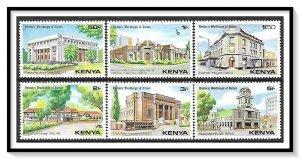 Kenya #175-180 Historic Buildings Set MNH