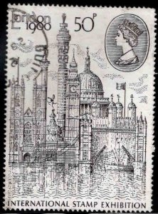 Great Britain Scott 909 Used Large London view stamp 1980