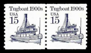 US #2260a Coil Pair 30c(2x15c)Tugboat, all tag, MNH, (2)