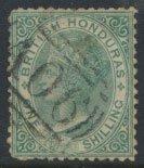 British Honduras SG 10 SC # 7 Used  wmk Crown CC see scans and details