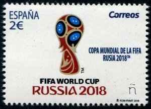 HERRICKSTAMP NEW ISSUES SPAIN Sc.# 4280 Russia 2018 World Cup Soccer