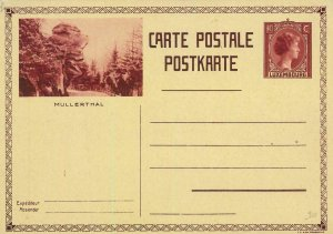 93429  - LUXEMBOURG - Postal History - STATIONERY CARD -  Transport CARS 1931