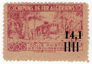 (I.B) France Colonial Railway : Algeria Chemins de Fer 14.1F on 12.5F OP
