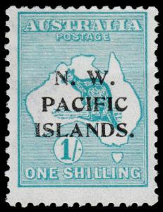 North West Pacific Islands Scott 34 (1918) Mint H F-VF, CV $16.40 M